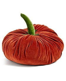 Martha Stewart Collection Pumpkin Figural Decorative Pillow, Created for Macy's
