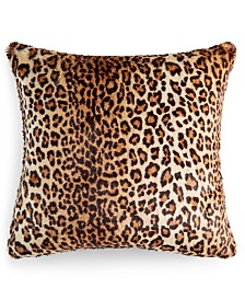"Martha Stewart Collection Animal Print 20"" x 20"" Decorative Pillow, Created For Macy's"