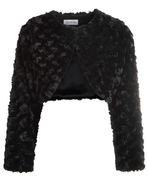 Bonnie Jean Little Girls Cropped Faux-Fur Cardigan