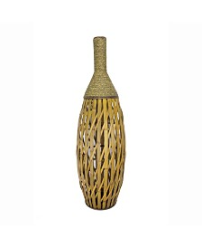 "Heather Ann Creations Clayton 41"" Bamboo Vase with Seagrass"