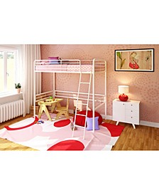 Tiana Twin Metal Loft Bed