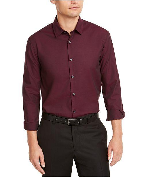 Alfani Men's Classic-Fit Solid Shirt, Created for Macy's