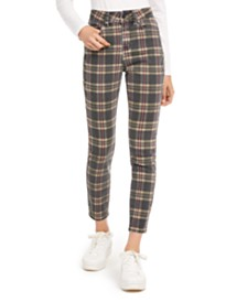 Indigo Rein Juniors' Plaid Ankle Jeans