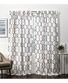 "Curtains Kochi Linen Blend Pinch Pleat Curtain Panel Pair, 27"" x 84"""