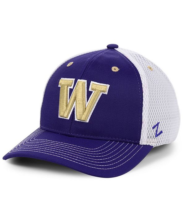 Zephyr Washington Huskies Honeycomb Flex Stretch Fitted Cap