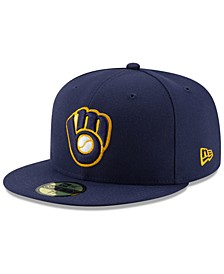 Milwaukee Brewers Authentic Collection 59FIFTY Fitted Cap