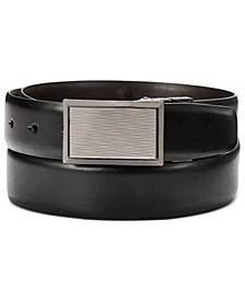 Men's Plaque-Buckle Belt