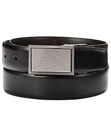 Perry Ellis Men's Plaque-Buckle Belt