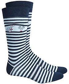 Bar III Peek-A-Boo Striped Socks, Created for Macy's