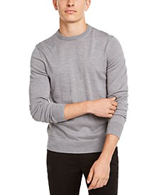 Men's Solid Crew-Neck Sweater