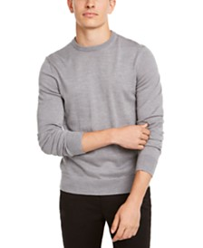 Calvin Klein Men's Solid Crew-Neck Sweater