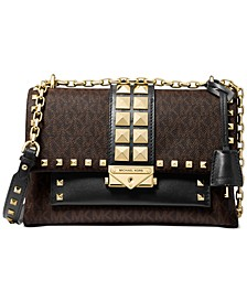 Signature Cece Medium Chain Leather Shoulder Bag