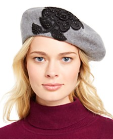 August Hats Appliqué Melton Beret