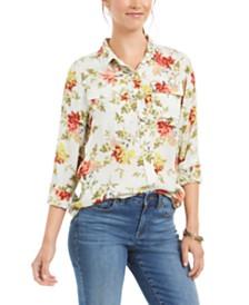 Lucky Brand Georgia Floral-Print Shirt