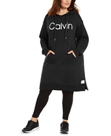 Calvin Klein Plus Size Graphic Hoodie Dress