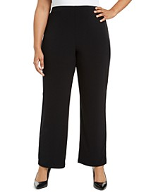 Plus Size Pull-On Wide-Leg Pants, Created for Macy's