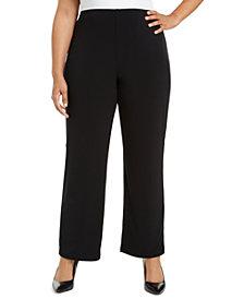 Alfani Plus Size Pull-On Wide-Leg Pants, Created for Macy's