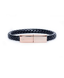 Charging Cable Black Braided and Rose Gold Single Band