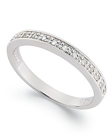 Diamond Band Ring in Sterling Silver (1/10 ct. t.w.)