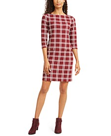Petite Plaid Sheath Dress, Created for Macy's