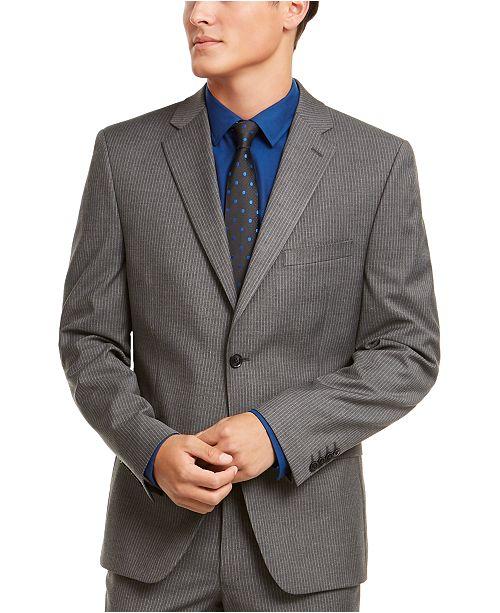 Alfani Alfani Men's Red Slim-Fit Performance Stretch Stripe Suit Separate Jacket, Created for Macy's