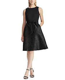 Lauren Ralph Lauren Fit-and-Flare Cocktail Dress, Created For Macy's