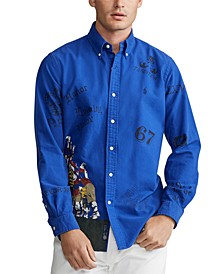 Men's Classic-Fit Rugby Scrimmage Oxford Shirt