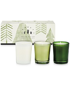Holiday Frost & Fur 3-Pack Votive Gift Set