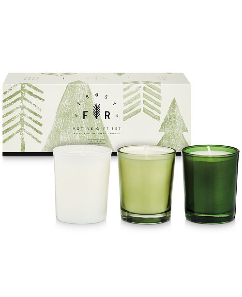 Illume CLOSEOUT! Holiday Frost & Fur 3-Pack Votive Gift Set