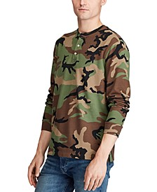 Men's Featherweight Camouflage Henley Shirt
