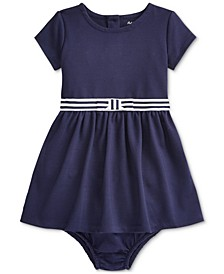 Baby Girls Ponte Roma Bow Dress