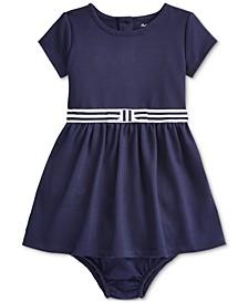 Baby Girls Ponte Roma Bow Dress