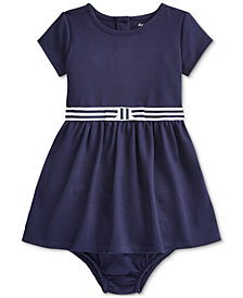 Polo Ralph Lauren Baby Girls Ponte Roma Bow Dress