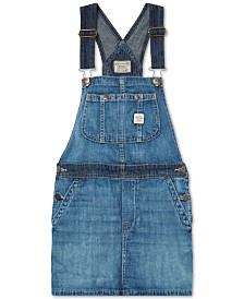 Polo Ralph Lauren Big Girls Overall Denim Dress