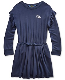 Polo Ralph Lauren Toddler Girls French Terry Ruffle Dress