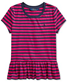 Big Girls Stripe Cotton Shirt