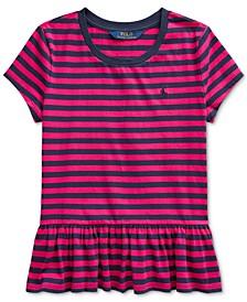 Big Girls Stripe Cotton Shirt