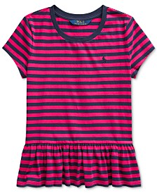 Polo Ralph Lauren Big Girls Stripe Cotton Shirt