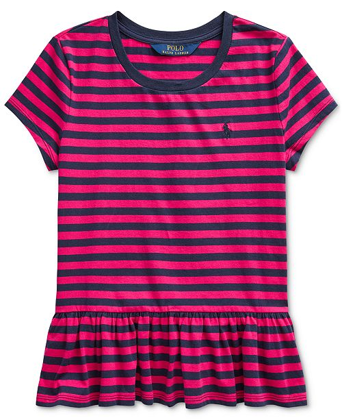 Polo Ralph Lauren Big Girls Stripe Cotton Shirt