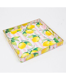 8 Oak Lane Lemon Square Tray