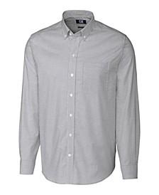 Men's Big & Tall Long Sleeves Stretch Oxford Stripe Shirt