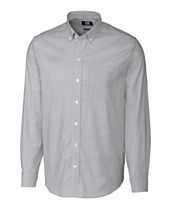7ac19fb166d6 Cutter and Buck Men's Big and Tall Long Sleeves Stretch Oxford Stripe Shirt