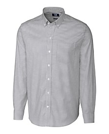 Cutter and Buck Men's Big and Tall Long Sleeves Stretch Oxford Stripe Shirt
