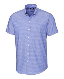 Men's Big & Tall Strive Three Bars Jacquard Short Sleeve Shirt