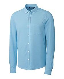 Men's Big & Tall Reach Oxford Button Front Long Sleeves Shirt