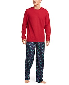 Men's Printed Pajama Set, Created for Macy's