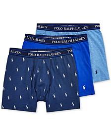 폴로 랄프로렌 Polo Ralph Lauren Mens 3-Pk. Classic Stretch Boxer Briefs