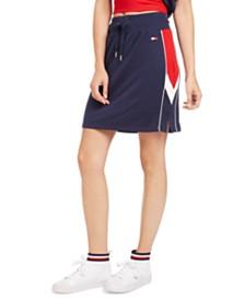 Tommy Hilfiger Sport Side-Striped Pencil Skirt