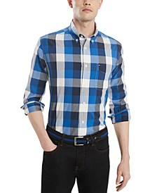 Men's Classic Fit Calmon Plaid Shirt, Created for Macy's