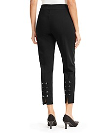 Lace-Up Skinny Ankle Pants, Created for Macy's